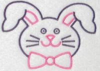 Rabbit Bunny Head Embroidery Design