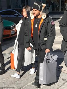 Hand in hand: Selena Gomez and The Weeknd enjoyed a shopping trip in his hometown of Toronto, Canada