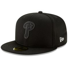 66c2c65172f Men s Philadelphia Phillies New Era Black Clubhouse Collection 59FIFTY  Fitted Hat