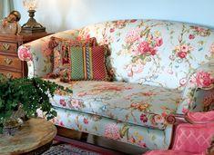 Rose Sofa, Roses Decor - Southern Lady Magazine