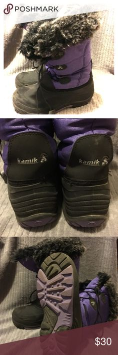 Kamik purple snow boots Fully lined extra warm snow boots Kamik Shoes Rain & Snow Boots