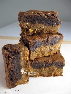 pb cookie crusted brownies by Vanilla Sugar Blog, via Flickr