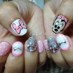 Baby Minnie! These are too cute #minnie mouse nails