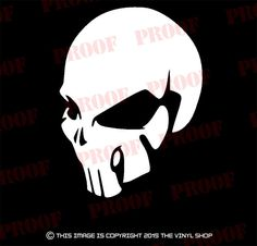 Human Skull Skeleton,cool vinyl decal sticker skull JDM,hot rod,car & truck. #TheVinylShop