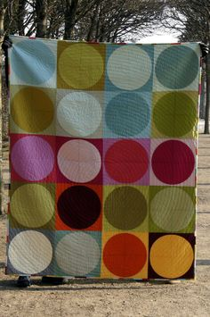 What Shade are You with Friederike Stanke: Circles quilt - Quilt with love