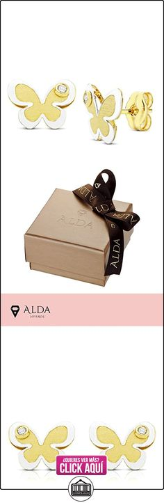 Pendientes bicolor niña o mujer Elvia 18 Ktes 8mm  ✿ Joyas para niñas - Regalos ✿ ▬► Ver oferta: http://comprar.io/goto/B01MXRR015