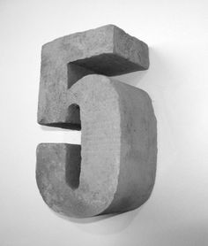 Concrete Numbers and concrete letters for the home and garden and Other unusual ideas for concrete made objects such as faux Concrete Signs