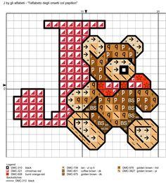 alfabeto degli orsetti col papillon: J