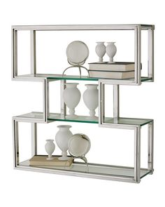 Shop the Davron Modern Classic Stainless Steel and Glass Bathroom Wall Shelf and other Wall Shelves at Kathy Kuo Home Glass Wall Shelves, Bathroom Wall Shelves, Tempered Glass Shelves, Cube Shelves, Wood Floating Shelves, Display Shelves, Shelf, Wall Organization, Wall Storage
