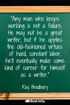 Writing Inspiration from top fiction and nonfiction authors Ray Bradbury Books, Fiction And Nonfiction, Writing Quotes, Writing Inspiration, Wisdom Quotes, Authors, Writer, How To Apply, Words