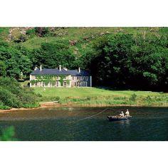 Angling Delphi Lodge Co Mayo Ireland Canvas Art - The Irish Image Collection Design Pics (18 x 12)
