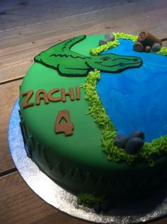 #krokodillen taart! By #amsterdamcupcakecompany. Specialist in just #cakes and #cupcakes