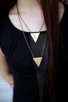 Personalized initial jewelry Geometric by AidenModernVintage