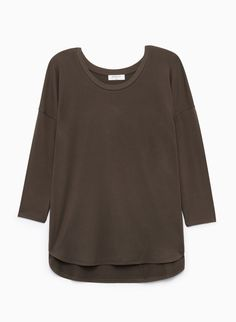 Aritzia Babaton 'Norris' Boxy T-shirt Tuscan Olive Sleeve Top Blouse Size XS Sweatshirts, Blouse, Fabric, Sleeves, Sweaters, T Shirt, Clothes, Tops, Style