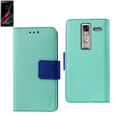 Reiko Lg Ls675 3-In-1 Wallet Case With Interior Leather Like Material And Polymer Cover-Green