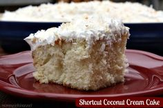 Mommy's Kitchen - Home Cooking & Family Friendly Recipes: Shortcut Coconut Cream Cake another yummy Easter Dessert Idea #easter #coconutcake #coconut