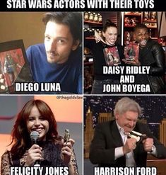 Lol, Harrison. They need a shot of Adam Driver and Jimmy Kimmel making their Kylo and Rey dolls kiss  #StarWars humor