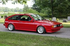 VW Scirocco Scala - Pepper red - I did love this car, but boy did it give me problems. It had a face level heater you could make toast on! Bugatti, Lamborghini, Volkswagen Golf Mk1, Vw Mk1, Porsche, Audi, Vw Corrado, T2 T3, Vw Scirocco