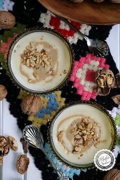 Tahinli Sütlaç – Mutfak Sırları –  Pratik Yemek Tarifleri Hummus, Acai Bowl, Panna Cotta, Breakfast, Ethnic Recipes, Sweet, Food, Acai Berry Bowl, Morning Coffee