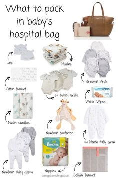 Don't forget to check out what to pack in a mama to be's hospital bag and my 5 Baby Essentials! When it came to packing the baby's hospital bag I was a little over whelmed. Pinterest Baby, Bebe Love, Baby Bikini, Baby Necessities, Baby List, Baby Supplies, Baby Arrival, Baby Needs, Baby Grows