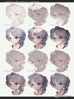 human hair tutorial kawacy – Art Drawing Tips Digital Painting Tutorials, Digital Art Tutorial, Art Tutorials, Digital Paintings, Hand Drawing Reference, Art Reference Poses, Drawing Skills, Drawing Techniques, Drawing Tips
