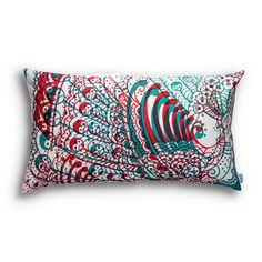 Wild peacock pillow.