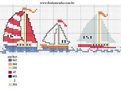 nautical boats cross stitch chart