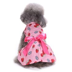 135584f21b78 Summer Princess Dog Dress Pet Puppy Clothes Wedding Skirt Spring Breathable Puppy  Cat Dresses for Small