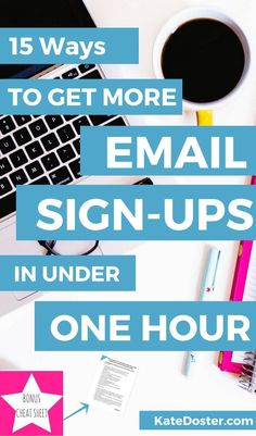 Getting Email Subscribers is vital to growing an online business and blog but that does mean you need to spend every waking moment growing your newsletter list. Each one of these list building tips can be done in under one hour- Click now or repin for lat