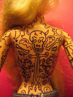 Tattooed  Barbie