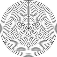 This geometric design looks kind of Celtic.  Geometrip.com - Free Geometric Coloring Designs - Circles http://geometrip.com/free/coloring/designs/circles/page3.html