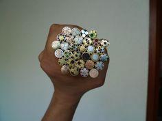 Few mosaic pins