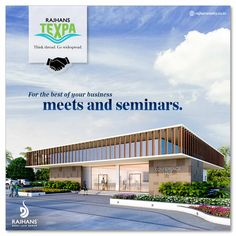 For the best of your business meets and seminars.  #RajhansTexpa #RajhansRealEstate
