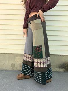 RESERVED Eco Gaucho PANTS, Size S/M,eco clothing,patchwork pants,hippie pants,festival pants,wide leg pants,dragonfly pants,earthy mix,Zasr by zasra on Etsy https://www.etsy.com/listing/599519881/reserved-eco-gaucho-pants-size-smeco