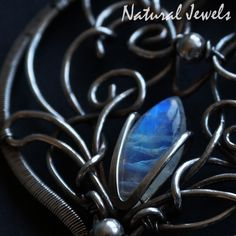 Moonstone magic, handmade silver pendant with mysterious Moonstone.