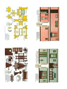 1920's Home Interiors Paper Model - Free Paper Toys and Models at PaperToys.com