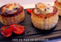 VOLOVANES RELLENOS DE CHAMPIÑONES   Cocinar en casa es facilisimo.com