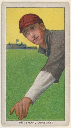 Puttman, Louisville, American Association, from the White Border series (T206) for the American Tobacco Company