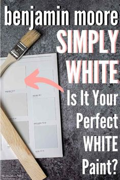 A Review of Simply White by Benjamin Moore. Is this the perfect white paint color for your home? Pictures from real homes & more info about this white paint color & undertones to help you decide! #simplywhite #benmoore #benjaminmoore #simplywhitebenjaminmoore #whitepaint #bestwhitepaintcolor #paintcolorsbedroom #paintcolorsforlivingroom #paintcolorsforkitchen #simplywhitebenjaminmooreundertone #vschantillylace #vssimplywhite #benmoorepaintcolors #benmooresimplywhite White Paint Colors, Favorite Paint Colors, Kitchen Paint Colors, Bedroom Paint Colors, Paint Colors For Living Room, White Paints, Space Painting, Painting Tips, Paint Shades
