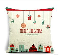 Merry Christmas Gifts to Every Home Cotton Linen Throw Pillow Case Cushion Cover Home Sofa Decorative 18 X 18 Inch QINU KEONU Pillow case http://www.amazon.com/dp/B00OFE5PI4/ref=cm_sw_r_pi_dp_QmRGub03M2CQ6