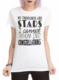 The Fault In Our Stars Thoughts Are Stars Girls T-Shirt | Hot Topic