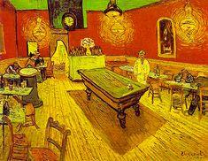 1) Figuration et Image ==> POST IMPRESSIONNISME <== Vincent Van Gogh, Le café de Nuit, place Lamartine, Arles 1889 Van Gogh = caractère d'ivresse, fantasmagorique. Absinthe = influence sur sa représentation du monde. Explication du retrait de Van Gogh, mal accepté. Personnage Maudit : se retrouve dans la perspective de ces toiles. ( se coupe l'oreille pcq Gauguin se barre) EXPRESSIONNISME = tout est lisible.