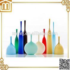 Murano Glass Vase, Creative Arts And Crafts, Xiamen, Custom Glass, Ikebana, Glass Bottles, Handmade, Mj, Vases