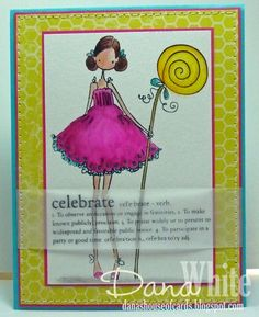 Uptown Girl Claudia has a Candy - image from Stamping Bella