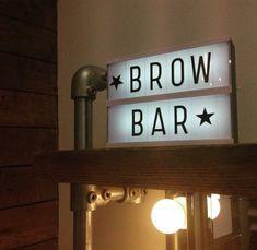 Brow Bar light box.