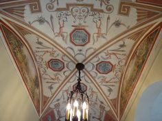 A barrel vault ceiling that I designed and painted in 2012 in Winter Park, Florida- Jeff Huckaby