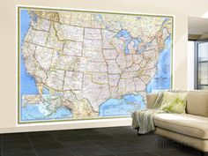 1987 United States Map Wall Mural – Large by National Geographic Maps at AllPosters.com