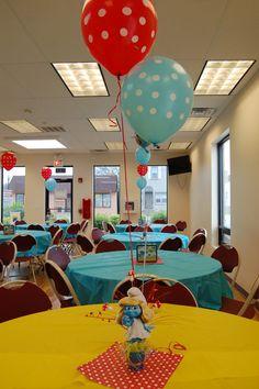 smurfs birthday party | Smurfs / Birthday / Party Photo: Centerpieces