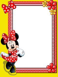 Free Printable Disney Borders And Frames ⋆ بالعربي نتعلم Fiesta Mickey Mouse, Mickey Mouse Birthday, Mickey Minnie Mouse, Birthday Photo Frame, Birthday Frames, Disney Frames, Minnie Mouse Decorations, Happy Birthday Art, Pictogram