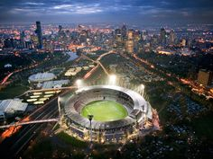Photograph by John Gollings/Arcaid/Corbis - The world-famous Melbourne Cricket Ground was built in 1853 after the Australian government forced the 15-year-old Melbourne Cricket Club to move locations. Today the site is the largest stadium in Australia